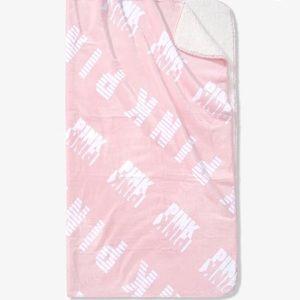 Victoria's Secret PINK Logo Sherpa Blanket